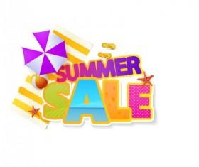 Summer sale vector creative design 06