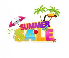 Summer sale vector creative design 07