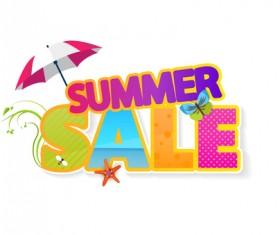 Summer sale vector creative design 08
