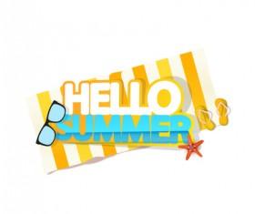 Summer travel logo illustration design vector 01