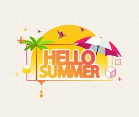 Summer travel logo illustration design vector 03