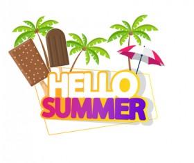 Summer travel logo illustration design vector 04