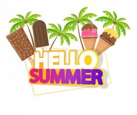 Summer travel logo illustration design vector 05