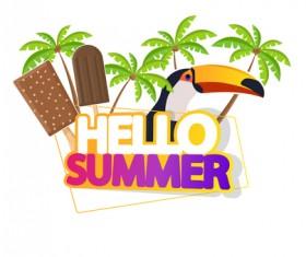 Summer travel logo illustration design vector 06