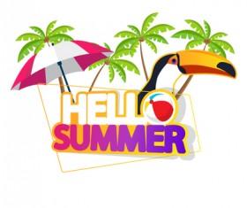 Summer travel logo illustration design vector 07