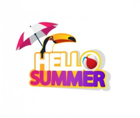 Summer travel logo illustration design vector 08
