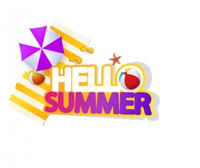 Summer travel logo illustration design vector 09