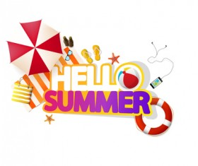 Summer travel logo illustration design vector 11