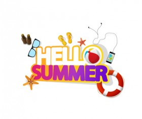 Summer travel logo illustration design vector 12