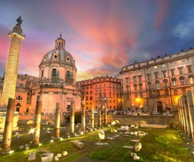 The birthplace of the splendid culture of the Roman world Stock Photo 05