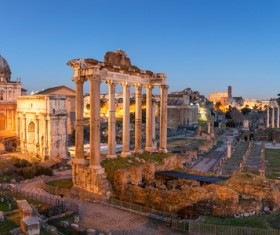 The birthplace of the splendid culture of the Roman world Stock Photo 06