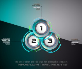 Timeline choices infographic template vector 01