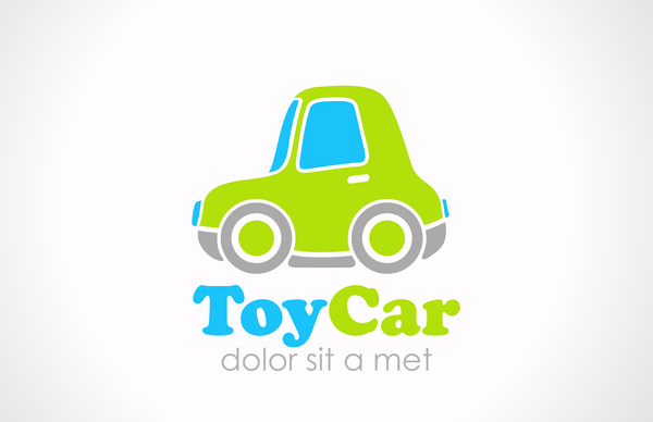 Toy car logo design vector