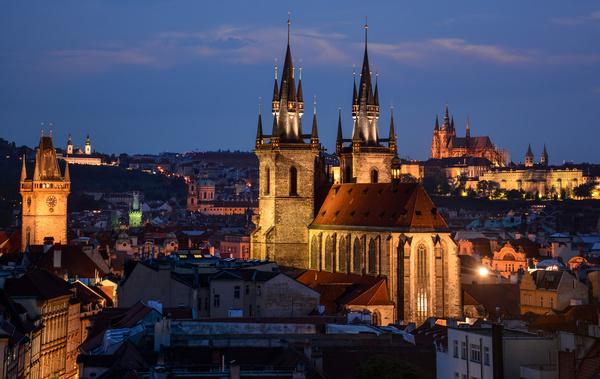 Travel City Prague Stock Photo 02