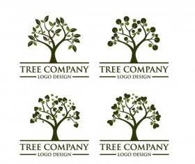 Tree company logos design vector
