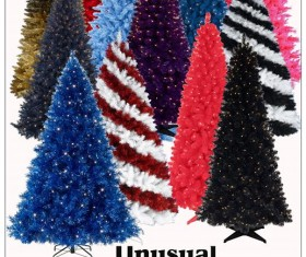 Unusual Christmas Trees Photoshop Brushes