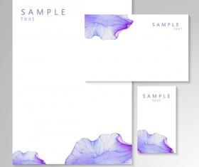 Vector card with watercolor flower petal material 01
