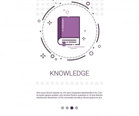 Vector knowledge learning education template 08