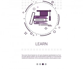 Vector knowledge learning education template 09