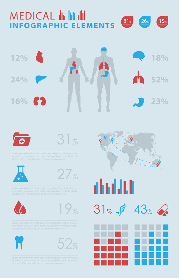 Vector medical infgraphic template 02