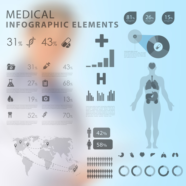 Vector medical infgraphic template 04