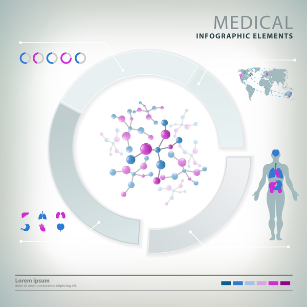 Vector medical infgraphic template 05