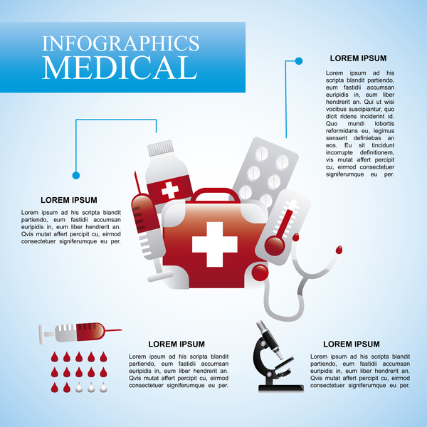 Vector medical infgraphic template 06