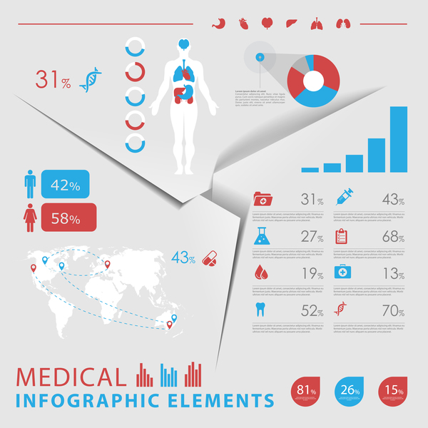 Vector medical infgraphic template 10