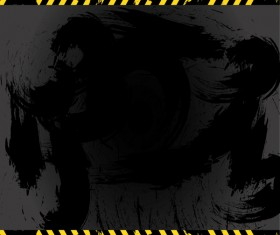 Warning grunge background vector