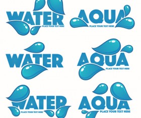 Water with aqua logos vector