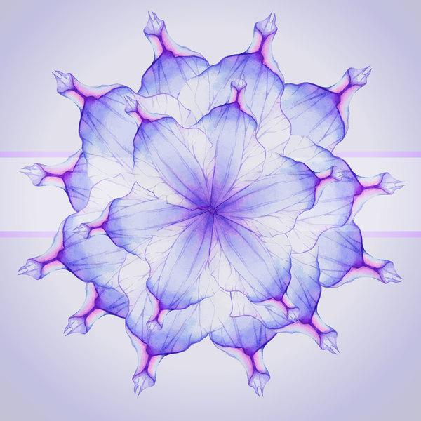 Watercolor flower petal dream vector 11