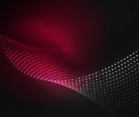 Wavy particles effect abstract background vector 01