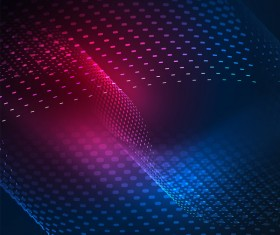 Wavy particles effect abstract background vector 11