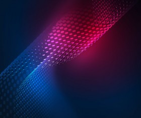 Wavy particles effect abstract background vector 12