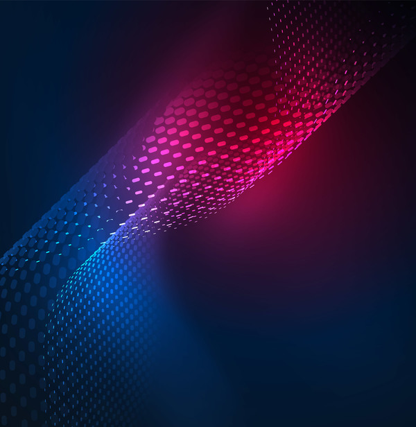 Wavy particles effect abstract background vector 12 free