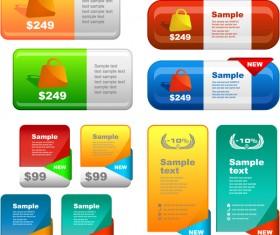 Website sale banners creative vector