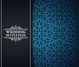 Wedding invitation with oriental pattern vector