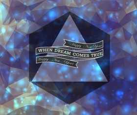 When dream comes true new year vector background