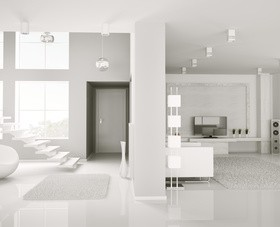 White bright living room HD picture