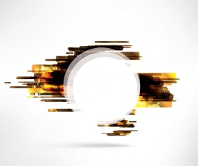 White circle with modern background vector