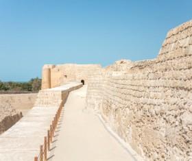World Heritage List Bahrain Fort Stock Photo 01