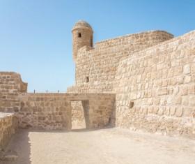 World Heritage List Bahrain Fort Stock Photo 02