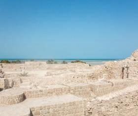 World Heritage List Bahrain Fort Stock Photo 03