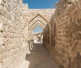 World Heritage List Bahrain Fort Stock Photo 04
