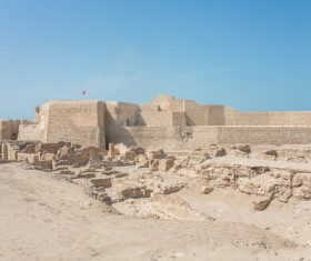 World Heritage List Bahrain Fort Stock Photo 05
