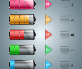 battery five infographic vector