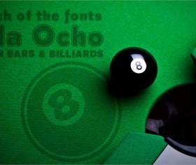 billiards font