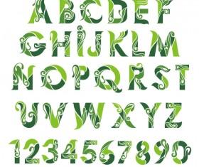 bio typeface creative vector