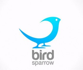 bird sparrow logo design vector
