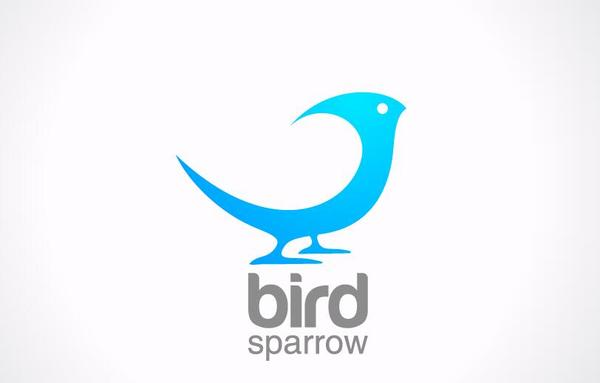bird sparrow logo design vector